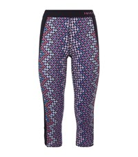 Juicy Couture Cropped Sequin Print Leggings Female Multi