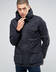 Brave Soul Premium Four Pocket Hooded Jacket Navy