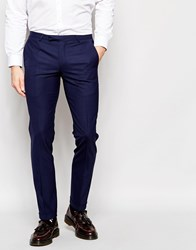 Noose And Monkey Trousers With Stretch And Turn Up In Skinny Fit Blue