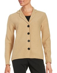 Nipon Boutique Wool Cardigan Camel