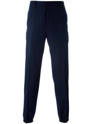 Harmony Paris Gathered Ankle Trousers Blue