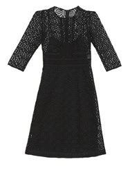 Burberry Contrasting Lace Shift Dress