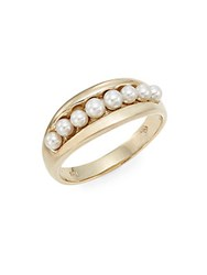 Mastoloni 2.5Mm 3Mm Cultured Pearl And Yellow Gold Ring