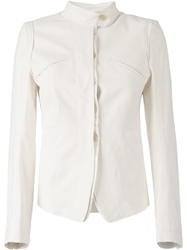 Ann Demeulemeester Blanche Military Style Jacket White