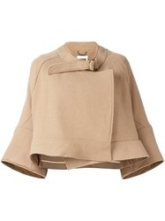 Chloe Cropped Jacket Nude And Neutrals