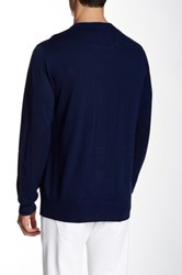 Robert Graham New Castle Wool V Neck Sweater Blue