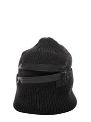 Y 3 Zip Wool Knit Beanie Hat