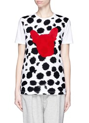 Etre Cecile Cheetah French Bulldog Print T Shirt Animal Print Multi Colour