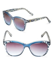 Vince Camuto 51Mm Round Sunglasses Blue