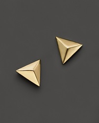Zoe Chicco 14K Yellow Gold Triangle Pyramid Stud Earrings