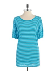 Calvin Klein Striped Dolman Sleeved Top Pool