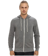 Alternative Apparel Rocky Zip Hoodie Grey Heather Men's Sweatshirt Gray