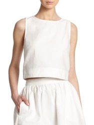 3X1 Cotton Cropped Top White