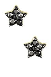 Ariella Collection Star Stud Earrings Metallic