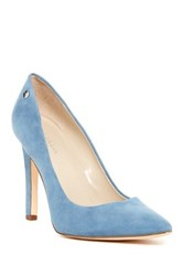Calvin Klein Brady Suede Pointed Toe Pump Wide Width Available Blue