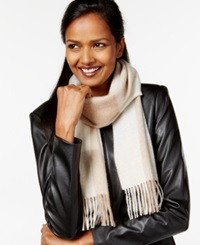Charter Club Buffalo Check Cashmere Muffler Only At Macy's Clarion Blue