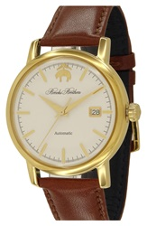 Brooks Brothers 'Core' Automatic Leather Strap Watch 42Mm