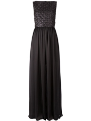 Maison Rabih Kayrouz Puckering Sleeveless Gown Black