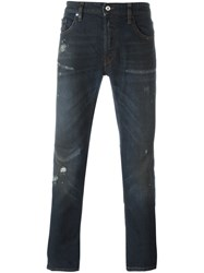 Just Cavalli Ripped Detail Skinny Jeans Blue