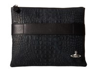 Vivienne Westwood Amazon Man Black Clutch Handbags