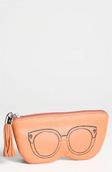 Women's Rebecca Minkoff Leather Sunglasses Case Coral