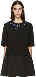 3.1 Phillip Lim Black Lace And Beaded Collar Blouse