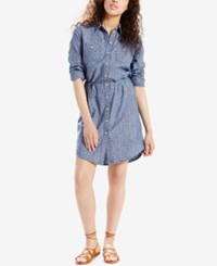 Levi's Printed Denim Shirtdress Blue