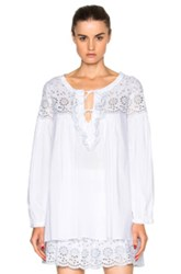 See By Chloe Eyelet Tunic Top In White