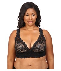 Cosabella Plus Size Never Say Never Front Closure Bra Never1395p Black Women's Bra