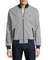 Penguin Zip Up Cotton Long Sleeve Bomber Gray