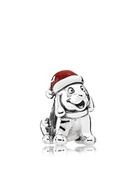 Pandora Design Pandora Charm Sterling Silver And Enamel Christmas Puppy Moments Collection