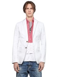 Dsquared Dots Patches Stretch Cotton Twill Jacket