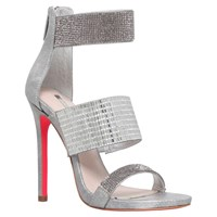 Carvela Globe Multi Strap Stiletto Sandals Silver