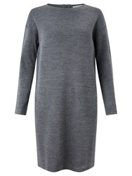 John Lewis Capsule Collection Zip Knitted Dress Grey