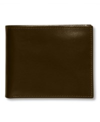 Perry Ellis Premium Leather Sutton Bifold Wallet Black Cherry