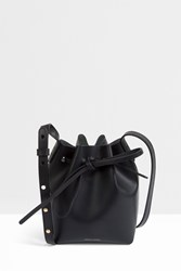 Mansur Gavriel Mini Mini Metallic Bucket Bag Black