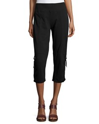 Neon Buddha Morning Rain Capri Pants Black