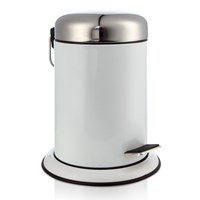 Moeve Metal Pedal Waste Bin White