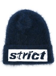 Alexander Wang Strict Embroidered Beanie Blue