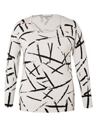 Chesca Abstract Brush Stroke Jumper White