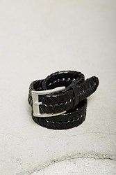 Forever 21 Men Faux Leather Braided Belt