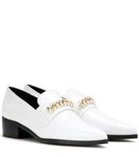 Stella Mccartney Embellished Faux Leather Loafers White