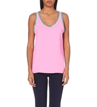 Sandro Contrast Trimmed Top Pink