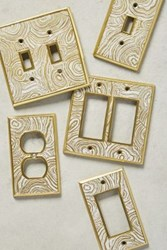 Anthropologie Natural Grain Switch Plate White
