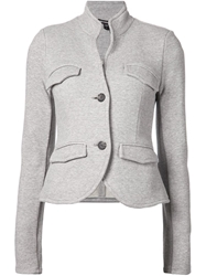 James Perse 'Shrunken Military' Jacket Grey