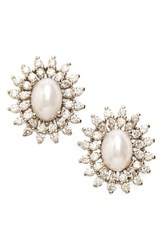 Women's Samantha Wills 'Sun Dancer' Crystal And Faux Pearl Stud Earrings