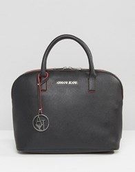 Armani Jeans Structured Tote Bag Black Red 00120 Multi