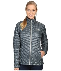 The North Face Thermoball Full Zip Jacket Balsam Green Women's Coat Gray