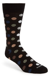Etiquette Clothiers 'Gumball' Polka Dot Socks Brown