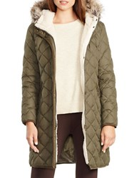 Lauren Ralph Lauren Faux Fur Trimmed And Sherpa Lined Parka Litchfield